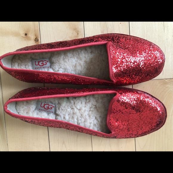 16b6b2658af UGG Australia Alloway Red Glitter Flats - 8